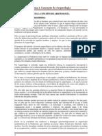 TEMA 1. Concepto de Arqueología.