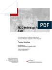 NGO Individual Projects East Guidelines