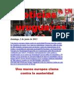 Noticias Uruguayas Domingo 2 de Junio Del 2013