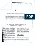 HRM Evolution of Organisation Theory