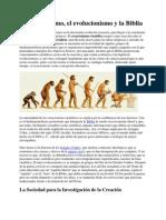 El Creacionismo, El Evolucionismo y La Biblia