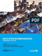Education in Emergencies-A Resource Tool Kit