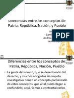 Diferencias entre los conceptos de Patria, República