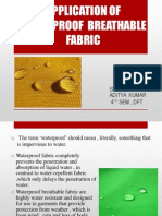 Application of Waterproof Breathable Fabric