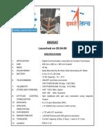 Anusat Satellite (Anna University, ISRO)