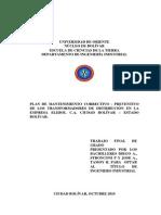 079-Tesis-Plan de Mantenimiento Correctivo-preventivo de Los Transformadores de Distribucion