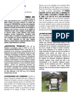 Hoja Informativa Cc. Llano La Honda Mayo 2013