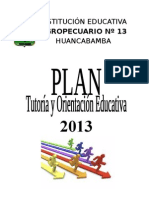 Plan Tutoria 2013-01