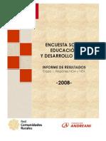 Encuesta S/Educación y Desarrollo Rural
