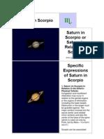 Saturn in Scorpio 2