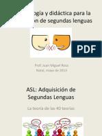 Metodología y didáctica para la adquisición de segundas lenguas - Metodología y didáctica para la adquisición de segundas lenguas - Juan Miguel Rosa