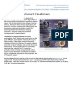 Introduction to Instrument Transformers