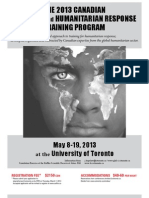 2013 Canadian Disaster and Humanitarian Response Training Program