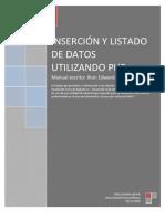 Inserción y listado de datos con PHP