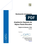 DIA Pucobre Ampliacion Depositos de Ripios Biocobre