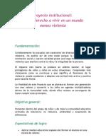 Proyecto institucional violencia