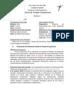 Informe evaluación S.M. Adulto