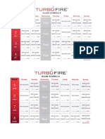 TurboFire 20 Week Class Schedule