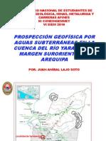 Ponencia Magistral - Dr. Ing. Juan Anibal Lajo Soto GEOLOGIA UNSA