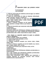 Documentos Iniciais