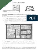 Ficha Unidad 1 - Que Es La Biblia 2013