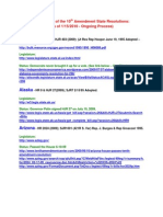 10th Amendment State Legislation - Summary
