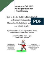 Field Hockey Registration Form