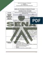 Especializacion Tecnica en Mecanizado Cnc 2010