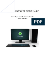 WhatsApp Desde La PC