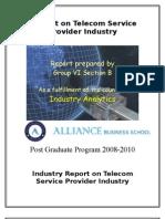 Indian Telecom Industry - Industry Analytics