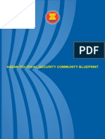 Asean Political Security Blue Print