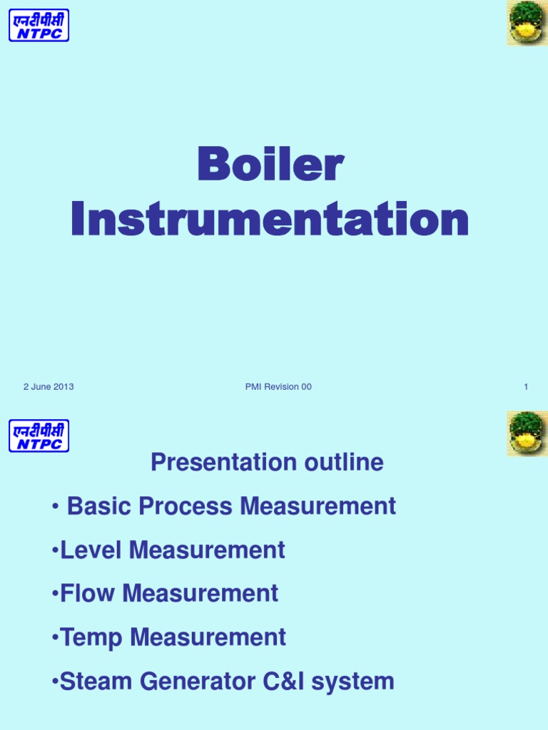 Boiler Instrumentation Standards.ppt | Flow Measurement | Pressure ...