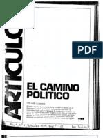 El camino político