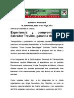 Experiencia y compromiso de Salvador Treviño, garantía de triunfo