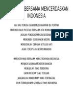 Mars Maju Bersama Mencerdaskan Indonesia