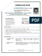 Updated,01.06.13 RESUME Prof.tushar T.shelke