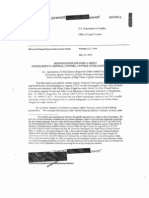 Office of Legal Counsel Memo to CIA, May 30, 2002