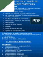SISTEMA Y DISEÑO DE INVENTARIOS FORESTALES