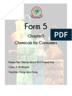 Chemistry Folio Form 5 Chapter 5 Chemicals for Consumers