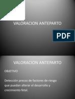 VALORACION ANTEPARTO