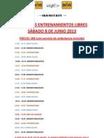 Horarios Libres Anpa 8 de Junio 2013
