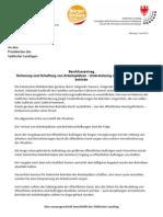 Sicherung und Schaffung von Arbeitsplätzen - Unterstützung der heimischen Kleinbetriebe Beschlussantrag der BürgerUnion