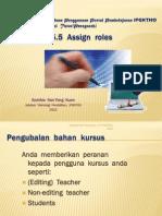 Moodle - Assign roles
