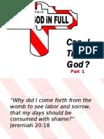Part 1 - Can I Trust God