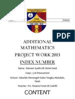 Additional Mathematics 2013 - Fini