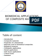 Biomedical Applications of Composite Materials
