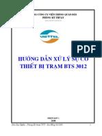 Hướng dẫn xử lý sự cố thiết bị trạm BTS 3012