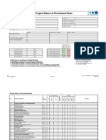 F02 Project Status Purchased Parts QR83 2011 Version 1-0-01
