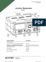 Function Generator Manual PI 8127