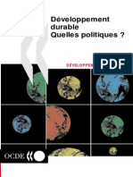 Developpement Durable Quelle Politique